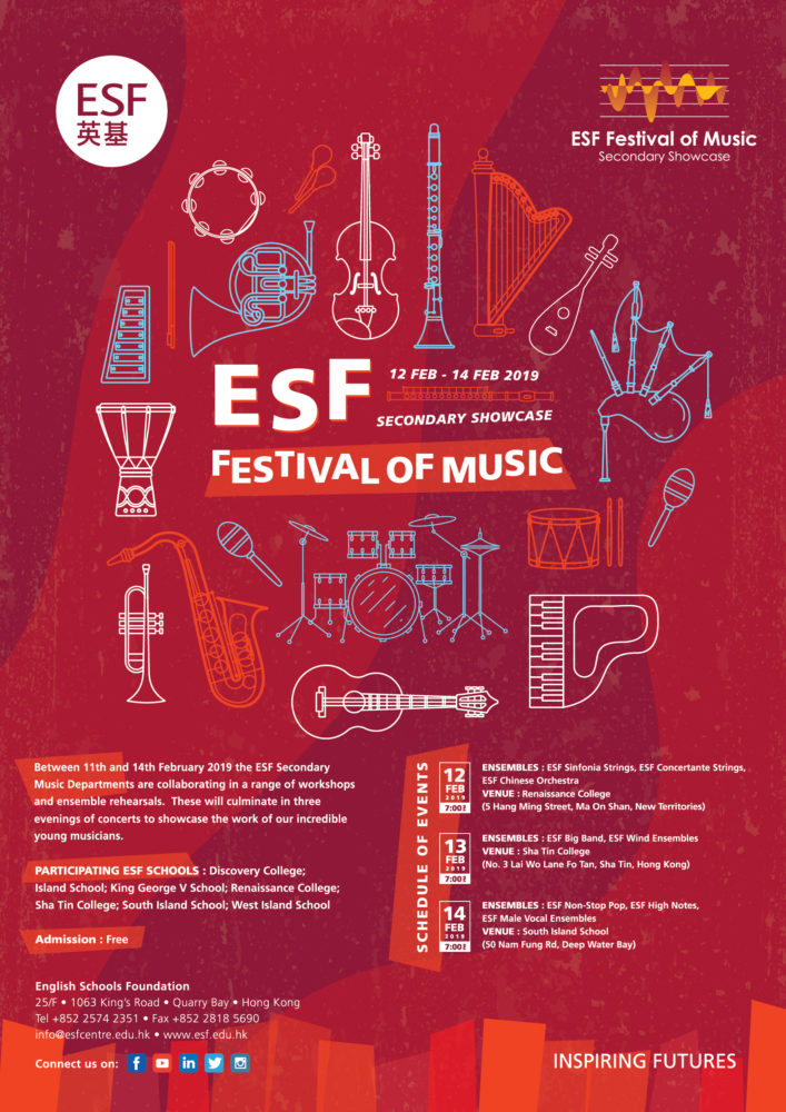 b90d7dde3 ESF Festival of Music comes back in February! - South Island School ...